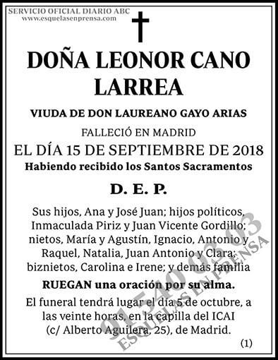 Leonor Cano Larrea
